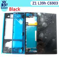 New Z1 Full Housing For Sony Xperia Z1 L39 L39H C6902 Front Middle Housing Frame Plate Bezel Back Battery Cover Door