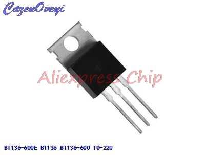 1pcs/lot BT136-600E BT136 BT136-600 600V 4A Triacs RAIL TRIAC TO-220 new original In Stock
