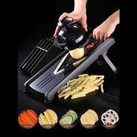 Multi functional Adjustable Vegetable Chopper Dicer Slicer Cutter Manual/Vegetable Grater Interchangeable Blades