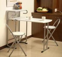 Furniture White Table Eat Desk And Chair Desk Collapsible 1 Table 2 Chairs