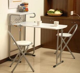 Furniture. White table. Eat desk and chair, desk. Collapsible 1 table, 2 chairsFurniture. White table. Eat desk and chair, desk. Collapsible 1 table, 2 chairs