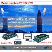 Mirabox 3 км Беспроводной WI FI HDMI аудио видео передатчик приемник 1080 P 5.8 ГГц Беспроводной HDMI Отправитель Extender Крытый 150 М ~ 300 м