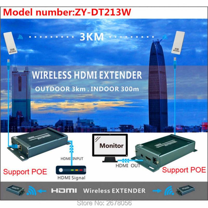 MiraBox 3 KM sans fil WIFI HDMI vidéo Audio émetteur récepteur 1080 P 5.8 GHz sans fil HDMI émetteur Extender intérieur 150 m ~ 300 m