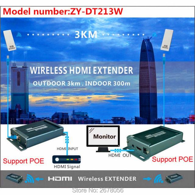 MiraBox 3KM Wireless WIFI HDMI Video Audio Transmitter Receiver 1080P 5.8GHz Wireless HDMI Sender Extender Indoor 150m ~ 300m