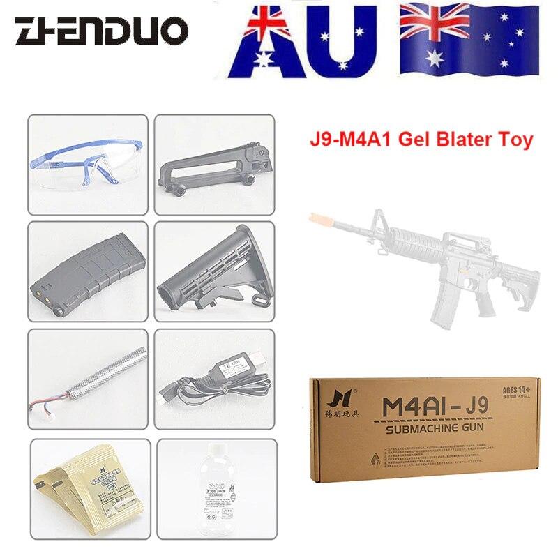 ZhenDuo Jouets Jinming Gen9 M4A1 Électrique Gel Boule Blaster balle en eau Pistolet Mag-alimenté jouet d'extérieur Pour Enfant