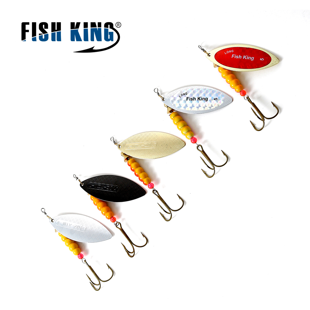 FISH KING mepps fishing lures 1pc 5SIZE #1-#5 spinner spoon bait stainless steel shaft with mustad hook isca Pesca Fishing Lure ilure fishing lure hook mepps spinner spoon lure 1 5 7g with spinner bait bass bait metal spoon lure peche jig anzuelos de pesca