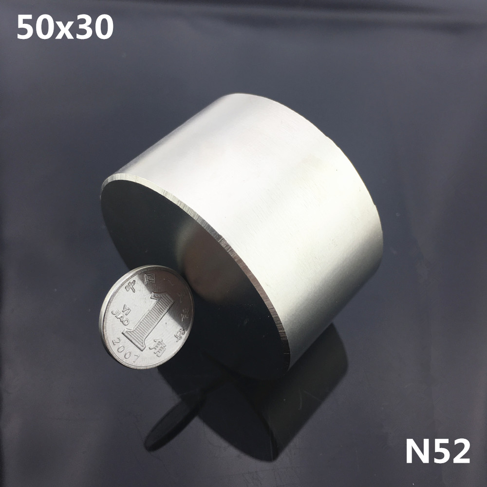 1 pc N52 aimant 50x30mm Puissant permanet rond Néodyme Aimant magnétique Super Strong Rare Earth NdFeB 50 * 30mm gallium métal