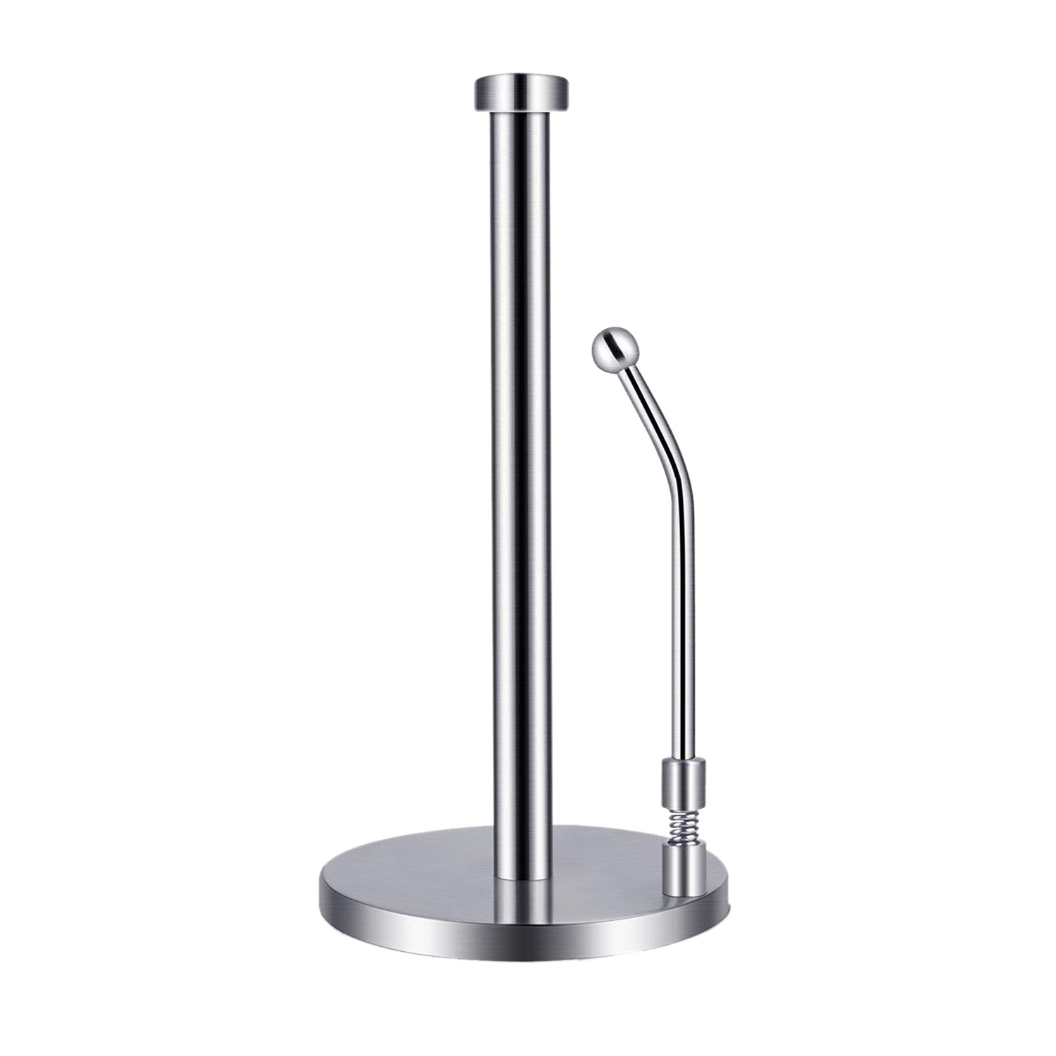 Paper Towel Holder Stainless Steel Standing Tissue Holder One-Handed Tear, Perfect Modern Design for Kitchen KeepsPaper Towel Holder Stainless Steel Standing Tissue Holder One-Handed Tear, Perfect Modern Design for Kitchen Keeps