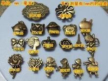 2013  Vintage bronze color shaped metal snap button for leather &bag decoration ,garment press fasteners