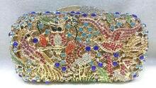 Freies verschiffen!! A15-38, bunte farbe mode top kristallsteinen ring handtaschen für damen nette parteibeutel