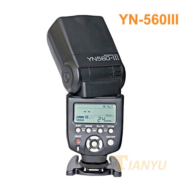 Yongnuo YN560 III YN560III Flash Speedlite Flashlight for Canon Nikon Pentax Olympus Panasonic DSLR Camera Upgrade Of YN560 II yongnuo yn 560 iii 2 4g hss 1 8000s radio flash speedlite and rf603n ii wireless trigger single receiver for nikon kit