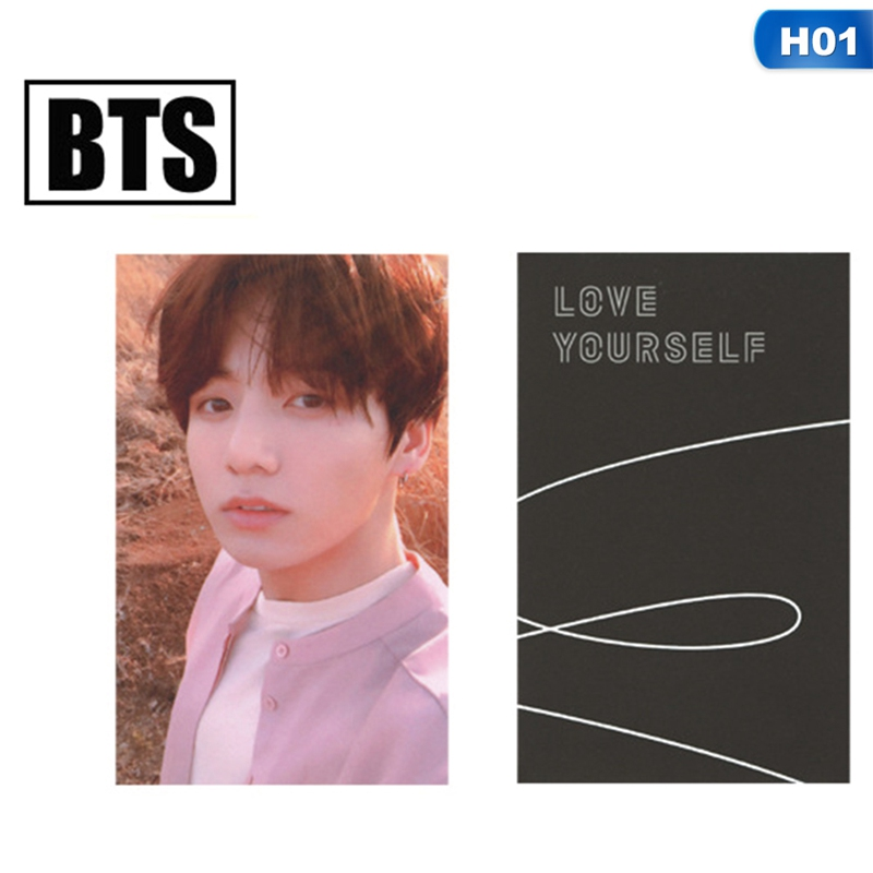 Korean POP BTS Bangtan Boys Love Yourself Tear Album Photo Card New Fashion Photocard