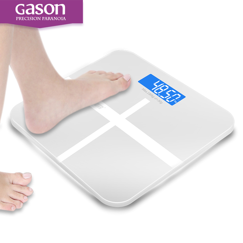 Best Selling GASON 180kg Square Night Vision Bathroom Household Weight Scale Smart Steelyard Electronic LCD Digital FLOOR SCALES