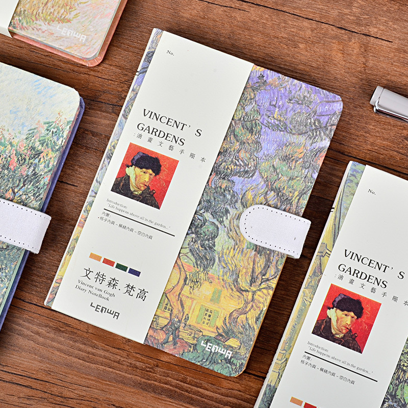 1pc New Arrival A5 Van Gogh Garden Notebook High Quality Grid Blank Line Paper Journal Planner Notebook School Office Supplies chris van gorder the front line leader