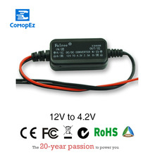 DC-DC Car Power Converter DC/DC Step-down 12V to 4.2V 2.5A Waterproof Control Car Module Low Heat Auto Protection Size 43*22*11 ac dc step down converter module for vehicle char module 24v to 12v 8a waterproof control car module low heat auto protection