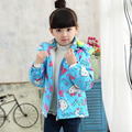 baby girls clothes hello kitty five star character coat outwear jacket kids hooded cotton warm thicken Trench girls pocket coat