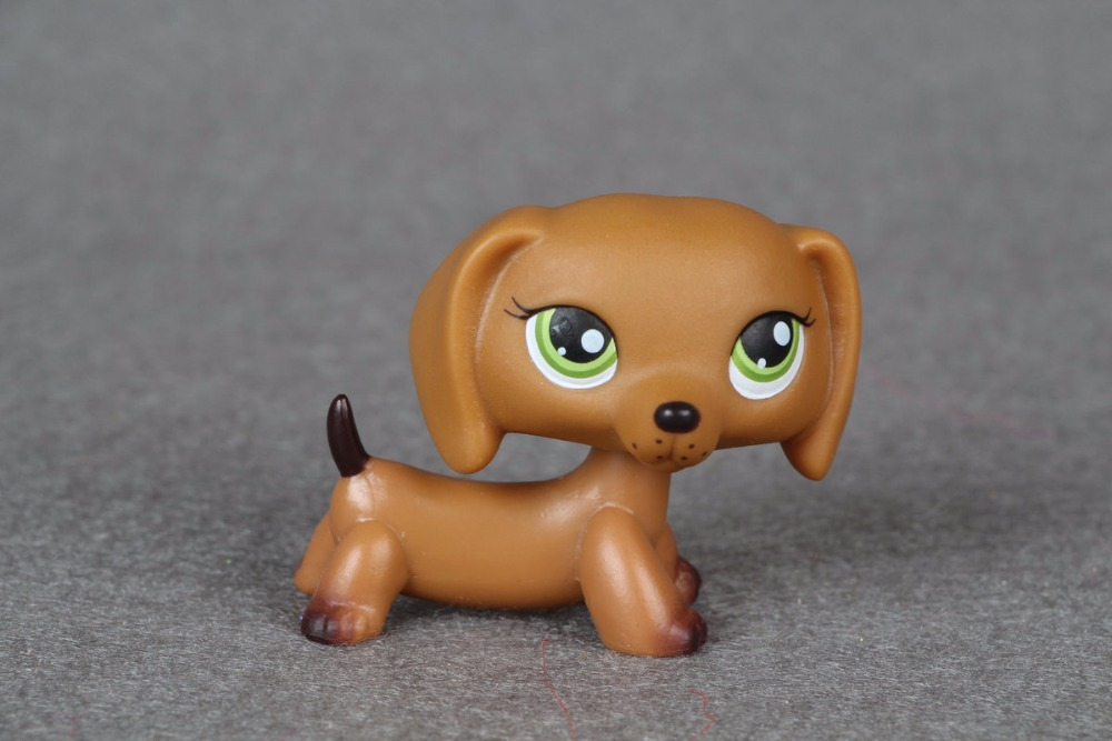 New pet Genuine Original LPS #139 Brown Dachshund Dog Puppy with Green Eyes figure Toys тюнер dvb t2 bbk smp021hdt2 dark grey