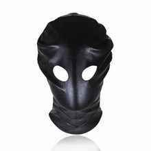 Women Slave Polyester Open Eye Hood Mask Blindfold Soft Headgear Harness Sex Toys Head Bondage Restraints Sex Game Sex Products(China)