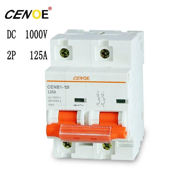 רוב אידיאלי 2p 1000V 63A 80A 100A 125A פוטו dc עבור הגנת שמש כוח מערכת חשוב רכיבים