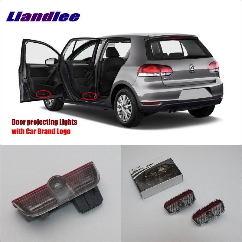 Liandlee Plug and Play Car Courtesy Doors Lights For VolksWagen VW Golf 2010~2014 / Projector Welcome Light Ghost Shadow Lamp