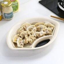 Plato para drenado de fruta y comida con platillo de inmersión, plato de plástico de doble capa con plato para servir vinagre, 30
