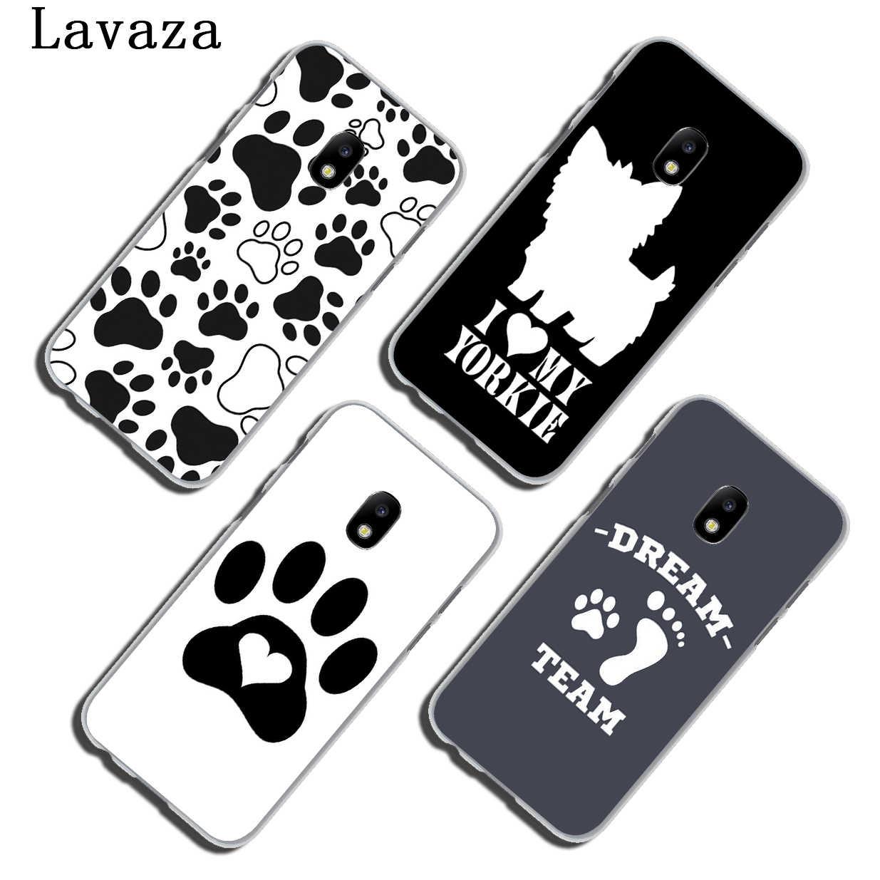 Lavaza отпечаток лапы собаки Щенячий Хаски чехол для телефона для samsung Galaxy J6 J5 J1 J2 J3 J7 2017 2016 2015 премьер-J7 EU версия крышка