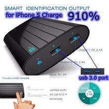 20000mah Power Bank 20000 mah 18650 Powerbank Iron P6 External Battery 4.8A Dual usb Display for Xiaomi Samsung Universal