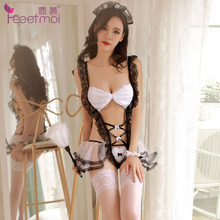 Women Exotic Apparel maid dress Sexy Cosplay Erotic Lingerie Hot Porn Role Play Babydoll Sex Clothes Wear Porno Costume suit.