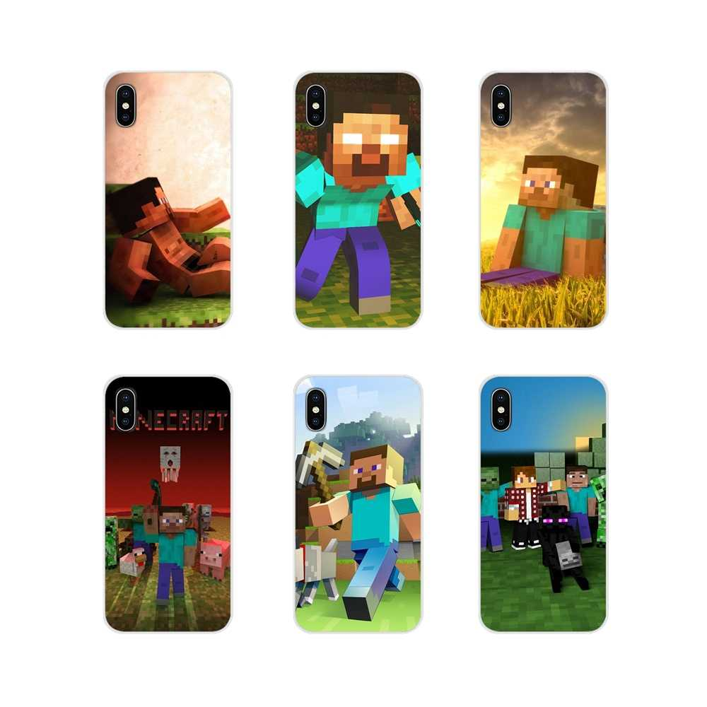 Para Apple iPhone X XR XS MAX 4 4S 5 5S 5C SE 6 6 S 7 7 Plus ipod touch 5 6 accesorios de la cáscara del teléfono cubre Creeper de minecraft