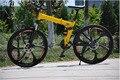 Folding bike folding bicycles 26 inch folding mountain bike double disc brakes MTB Scalable 24s 27s and aluminum frame