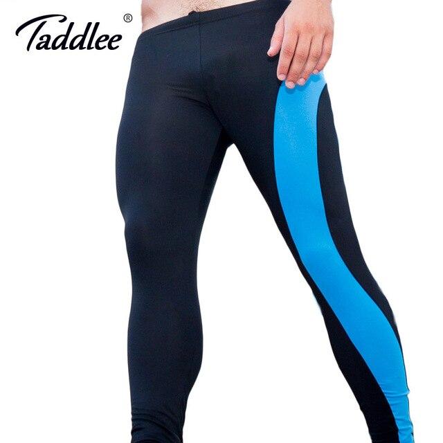 Collant Nylon Pour Homme taddlee marque collants long pantalon de course sport en nylon sexy