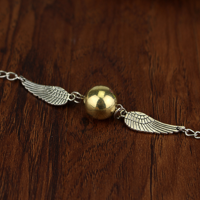 Quidditch Golden Snitch Pocket Alloy Bracelets With High Quality