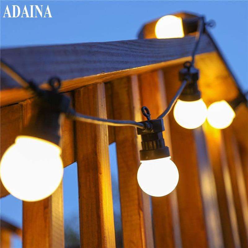 110 220ボルト5/10メートル20 ledボール屋外防水ストリングライトホームデコレーション祭りランプ、花輪照明結婚式ルミナリアス -