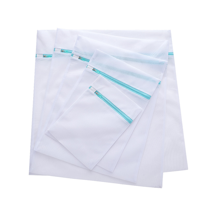 5 größe Kleidung Waschmaschine Wäsche Tasche Bh Socken Unterwäsche Blau Farbe Reißverschluss Faltbare Nylon Schutz Net Mesh Taschen-in Wäschesäcke & Körbe aus Heim und Garten bei  Gruppe 1