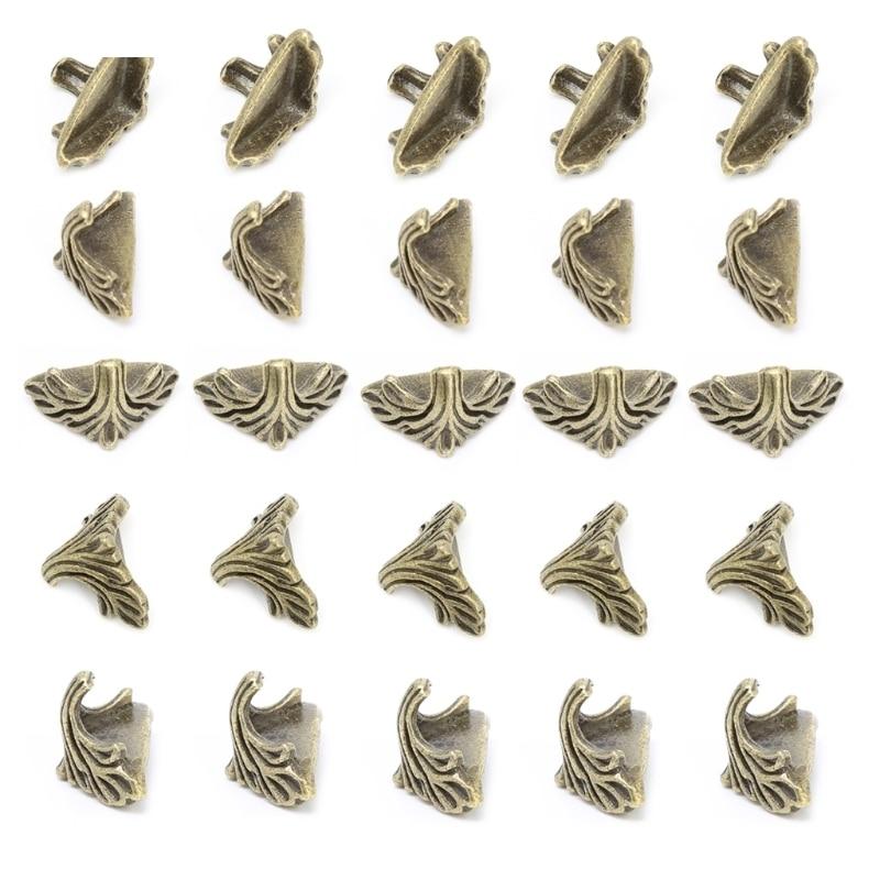 30 Pcs Decorative Jewelry Gift Box Wood Case Feet Leg Corner Protector19mm X11mm