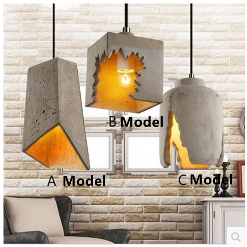 Industrial Loft Retro Chandelier Lamp American Creative Personality Restaurant Bar Cafe Cement Small Chandelier contemporary and contracted creative personality retro art glass chandelier cafe restaurant study lamps act the role of milan