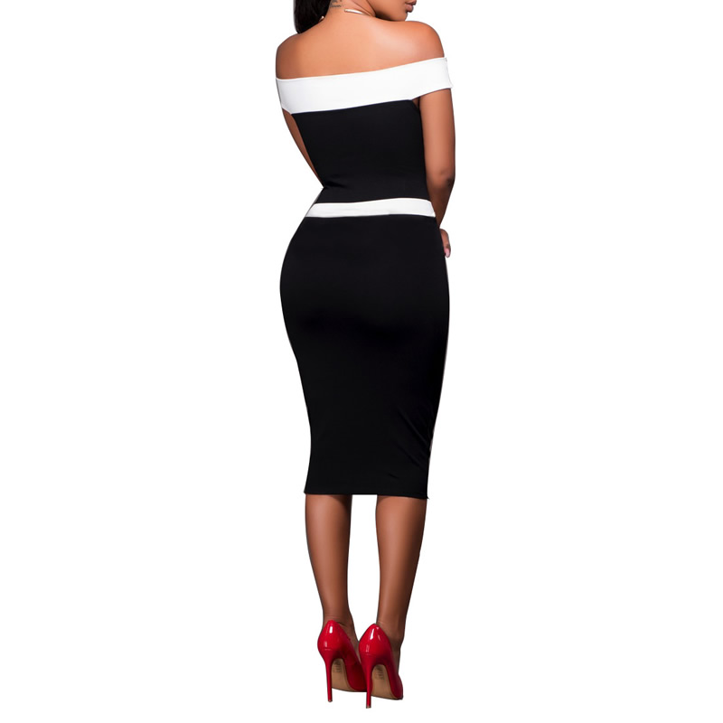 5e2b54d51730 Winter 2017 New Woman Runway Bandage Dress Inspired Tube white black stripe  vestido Party Celebrity Cocktail Bandage Sexy Dress-in Dresses from Women s  ...