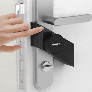 Image 3 - قفل باب Sherlock S2 يعمل ببصمة الإصبع + كلمة السر قفل إلكتروني للمنزل بدون مفتاح قفل ذكي يعمل بالبلوتوث تطبيق لاسلكي للتحكم بالهاتف