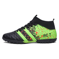 High Ankle Men Football Shoes TF FG AG Long Spikes Training Football Boots Hard Wearing Soccer