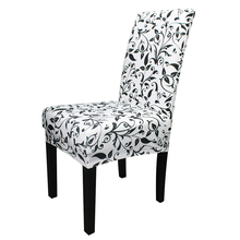 Floral Printing Removable Spandex Dining Chair Cover Big Elastic Slipcover Kitchen Seat Case Stretch Covers For Banquet