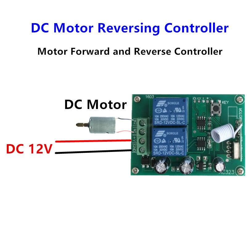 Image 3 - 433 МГц Беспроводной RF Переключатель DC12V релейный модуль приемника и 433 МГц пульт дистанционного управления для двигателя постоянного тока вперед и назад контроллер-in Пульты ДУ from Бытовая электроника