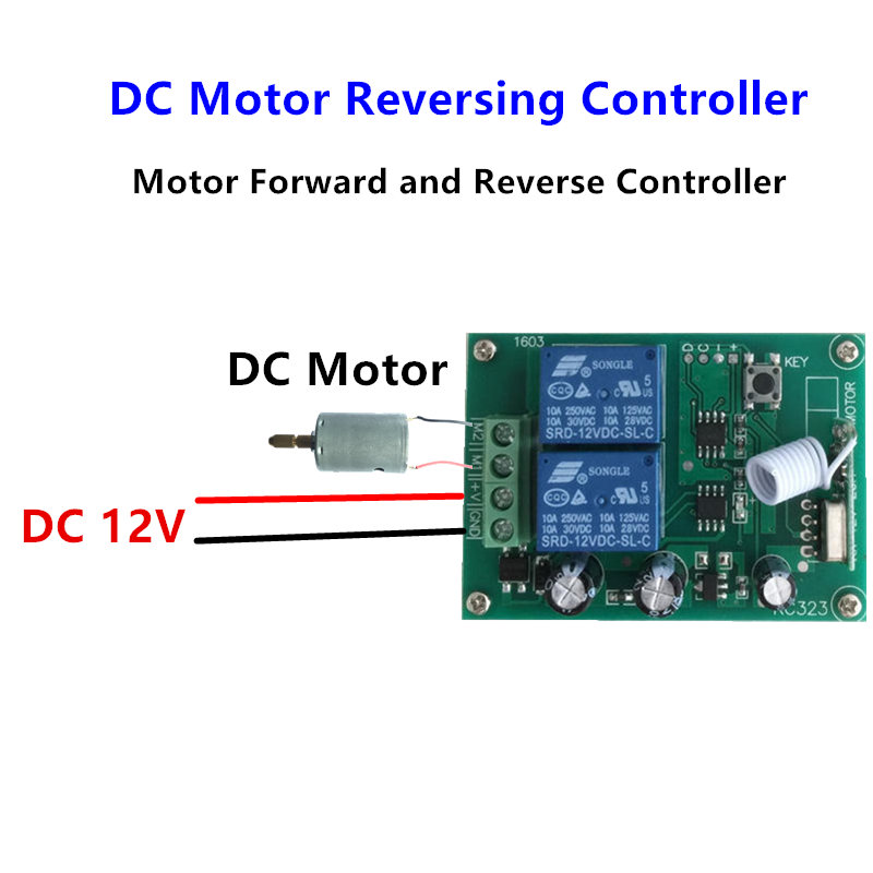 Image 3 - 433Mhz Wireless RF Switch DC12V Relay Receiver Module and 433 Mhz Remote Controls For DC Motor Forward and Reverse Controller-in Remote Controls from Consumer Electronics