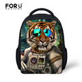 3D cartoon animal children school bags for baby boys funny cool glasses tiger kid schoolbag mochila escola sac a dos 12inch