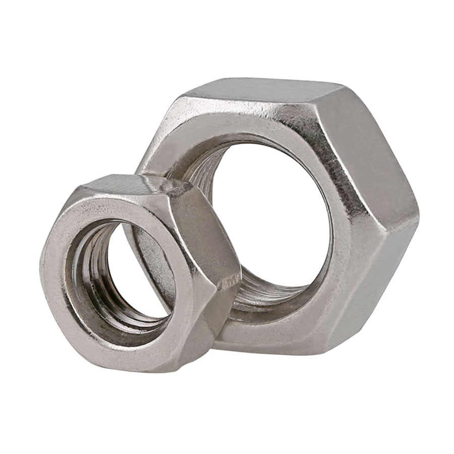 FORM A Hex Nut A2-70 Stainless Steel Bolt Caps M1.6-M10 DIN934 Nuts