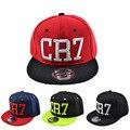 Novo 2016 CR7 dobrado letras bordados crianças boné de beisebol hop chapéu meninos e meninas do bebê marca