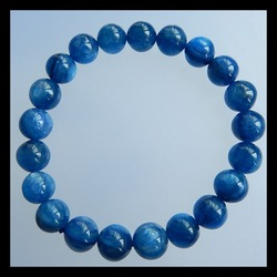 Handgemaakte Ronde Vorm Blue Apatietkristal Edelsteen Losse Kraal 9.5 cm in de lengte 9*9mm 30.4g Trendy Armband Sieraden