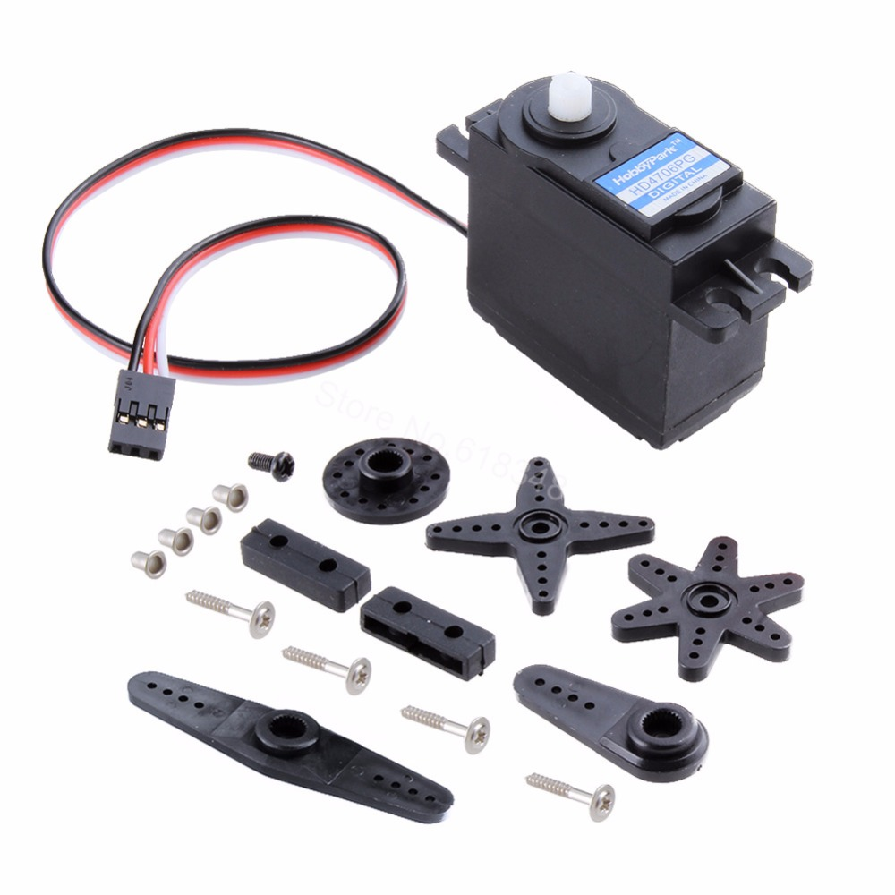 Hobbypark Digital 6KG Standard Servo Motor 2BB For Redcat HPI HSP Himoto 1/10 RC Model Car Monster Truck Buggy Airplane Boat hsp 02024 differential diff gear complete 38t for 1 10 rc model car spare parts fit buggy monster