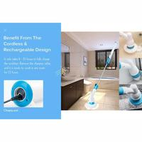 360 Cordless Power Scrubber Rotary Drill Brush set for Cleaning Electric Wireless Top Quality for Cleaning Bathroom