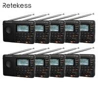 10 шт. retekess V115 FM/AM/SW коротковолновое радио приемник с MP3 плеер REC голос Регистраторы таймер сна