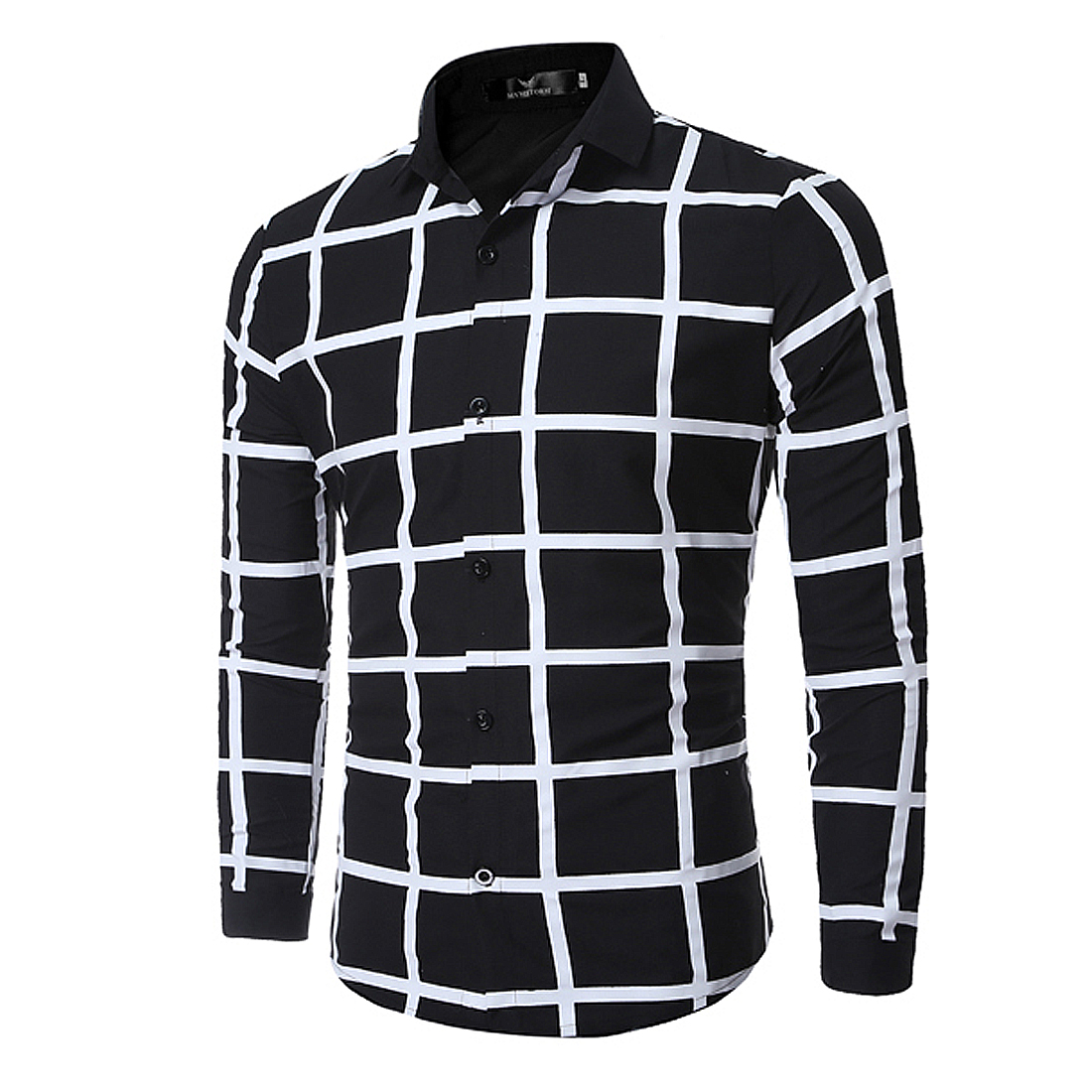 Mens White Plaid Shirts Promotion-Shop for Promotional Mens White ...